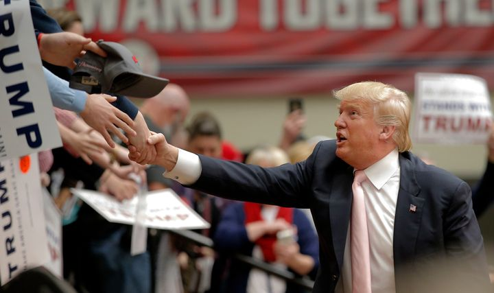 Donald Trump, a self-professed germaphobe, dislikes shaking hands with strangers for fear of being exposed to germs.