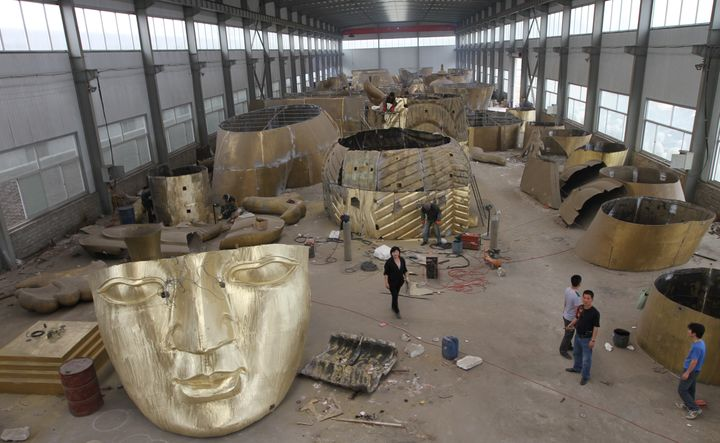 The 177-foot tall statue of Maitreya Bodhisattva is currently 35 percent complete, Fouts said, and project directors&nbs