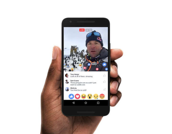 "You can now ""go live"" to hang out with people digitally in real time."