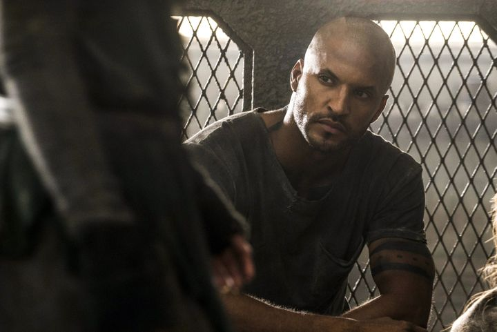 "Ricky Whittle as Lincoln on ""The 100."""