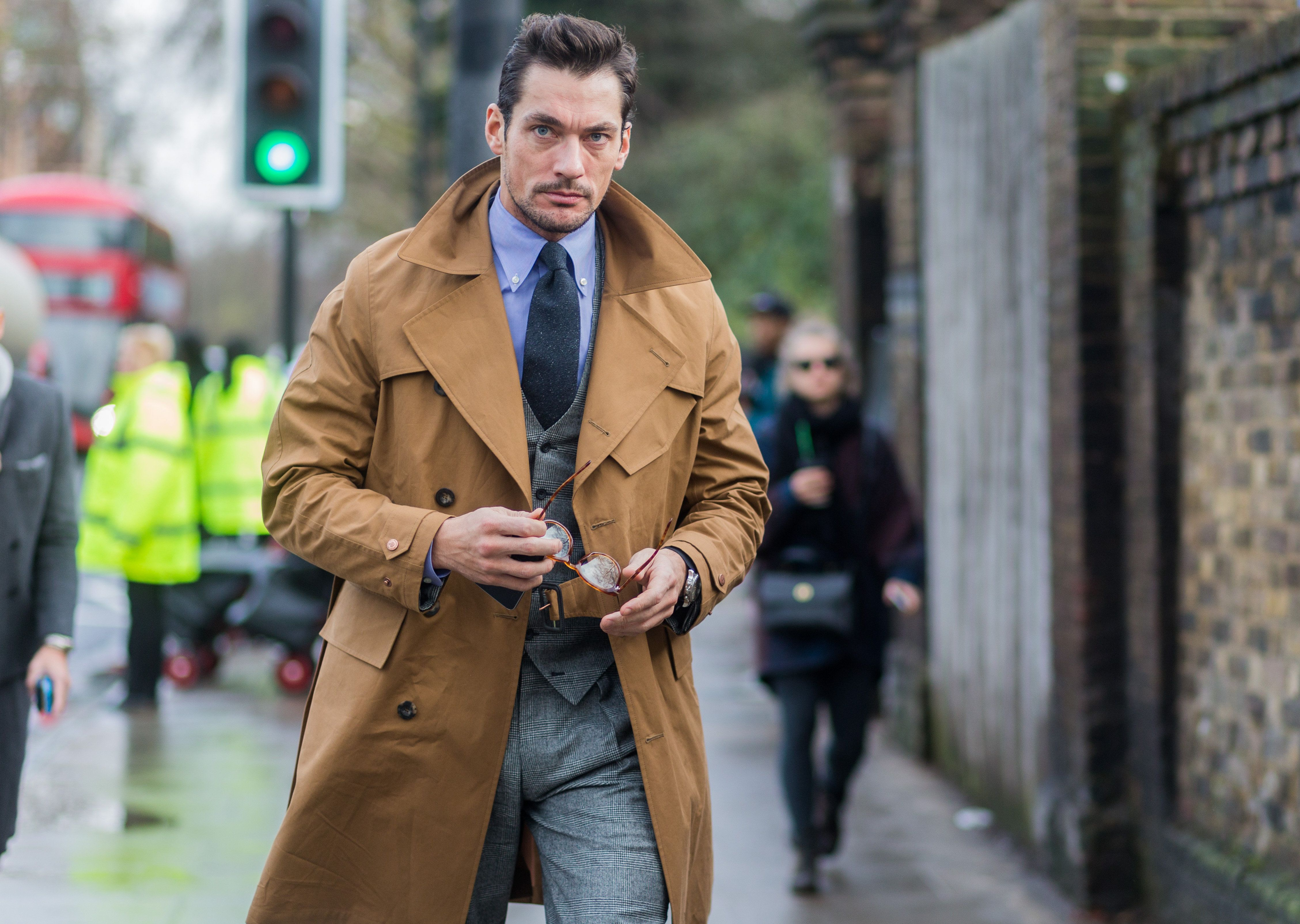 LONDON, ENGLAND, UNITED KINGDOM - JANUARY 11: David Gandy before the Burberry Prorsum show during London Collections Men AW16 on January 11, 2016 in London, England. (Photo by Christian Vierig/Getty Images)