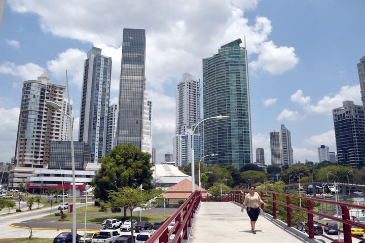 View of buildings in Panama City on April 4, 2016. A massive leak -coming from Mossack Fonseca- of 11.5 million tax documents