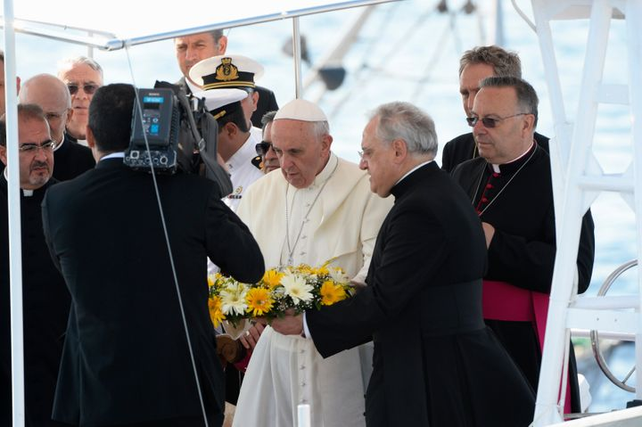 The pope has repeatedly spoken out in support of refugees and migrants in the past. Here hevisitsLampedusa, an It