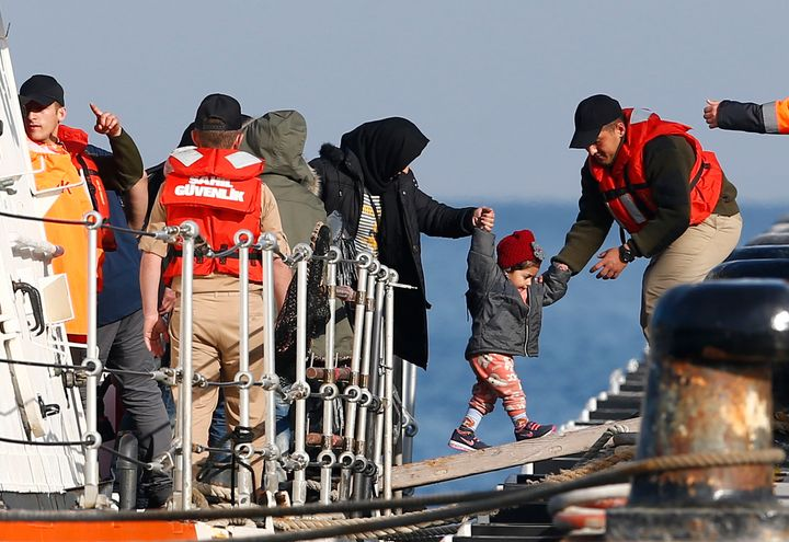 Hundreds of thousands of migrants and refugees have entered Lesbos in the past year, triggering Europe's largest humanitarian
