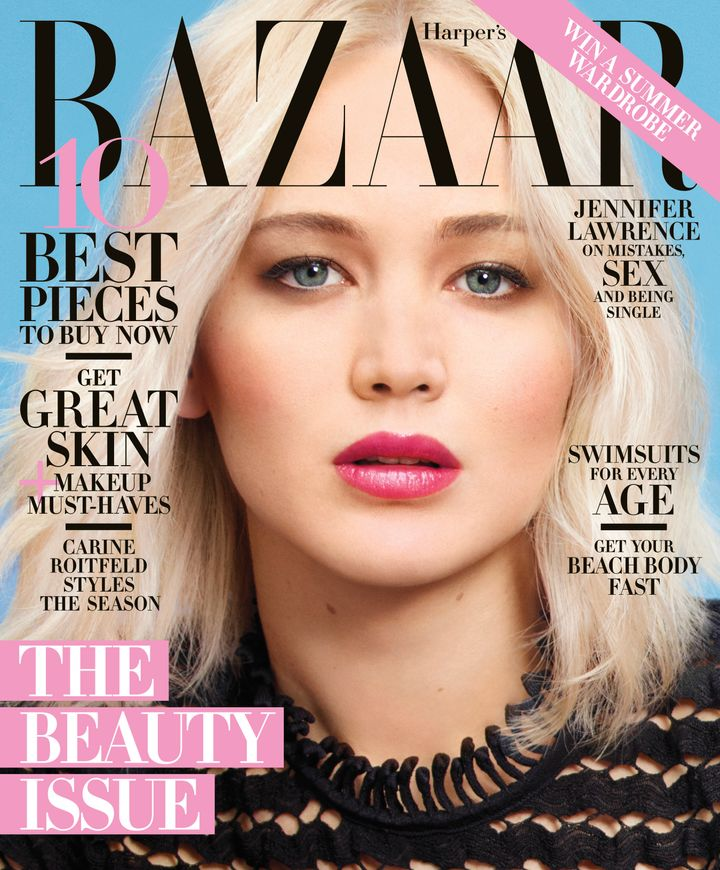 Jennifer Lawrence in the latest issue of Harper's Bazaar.