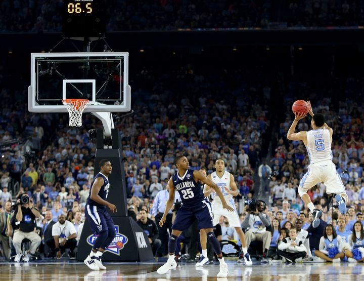 Marcus Paige's double-pump three-pointer tied the NCAA Tournament final before Villanova's Kris Jenkins responded with a buzz