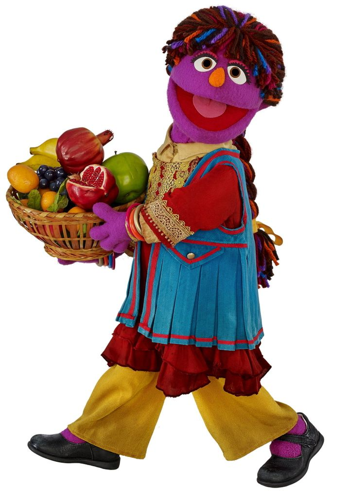 """A Sesame Street Afghan Muppet called Zari is seen in this handout image provided to Reuters on April 1, 2016. Zari, a curious and lively girl whose name means """"shimmering"""" in both the Dari and Pashto languages, makes her debut on April 7, 2016 on the """"Baghch-e-Simsim"""" Afghan local co-production of the long-running U.S. educational TV show for pre-schoolers.REUTERS/Sesame Workshop/John E. Barrett/Handout via Reuters"""