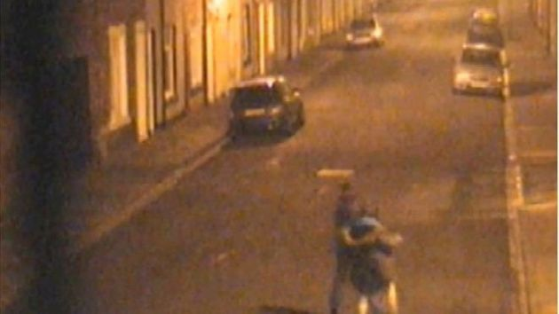 The two girls are pictured returning to MsWrightson's home in the early hours of 9 December, when...