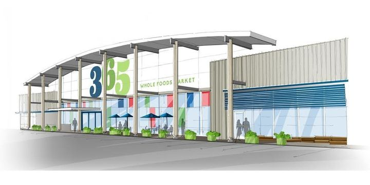 A rendering of the new market's exterior.