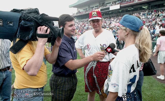In 1992, Donald Trump and his then-wife Marla Maples visited Buffalo for Jim Kelly's Carnival of Stars.
