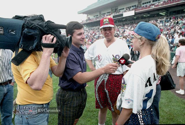 In 1992, Donald Trump and his then-wife Marla Maples visited Buffalo forJim Kelly's Carnival of Stars.