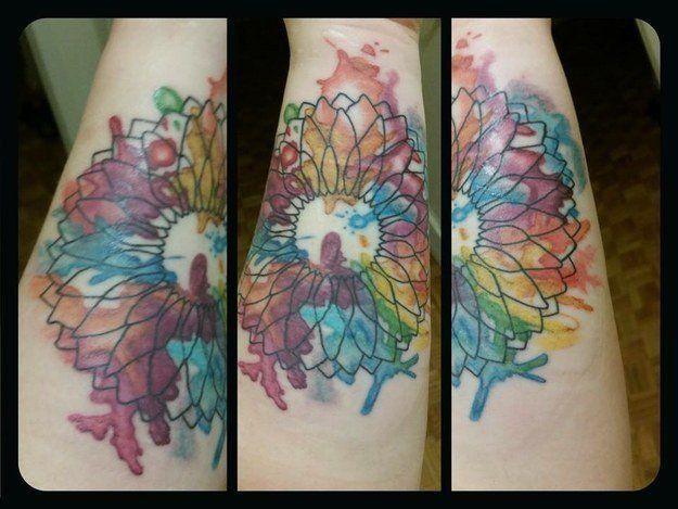 A tattoo Wolf didon a trauma survivor.