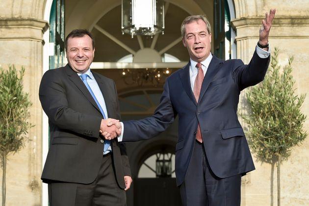 Arron Banks, left, with Ukip leader Nigel