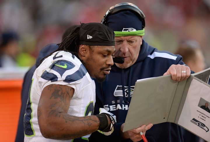 "Retired Seahawks running back Marshawn Lynch said Cable is ""one of the best coaches I've ever had."""