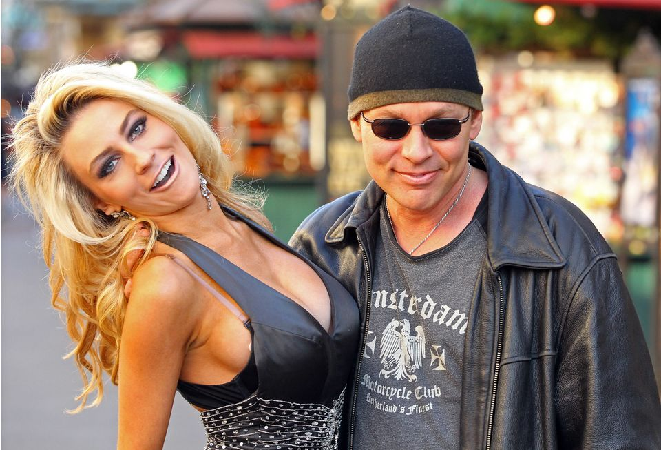 LOS ANGELES, CA - DECEMBER 06: Courtney Stodden and Doug Hutchison are seen at The Grove on December 6, 2011 in Los Angeles,