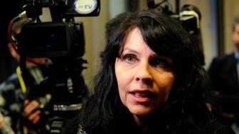 Birgitta Jonsdottir of the Pirate Party speaks in Reykjavik, Iceland on April 6, 2016. REUTERS/Sigtryggur Johannsson