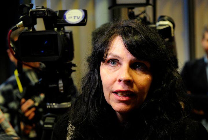 Birgitta Jonsdottir of the Pirate Party speaks in Reykjavik, Iceland, on April 6, 2016.