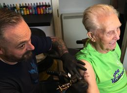 104-Year-Old Great-Granddad Becomes Oldest Person To Get A Tattoo