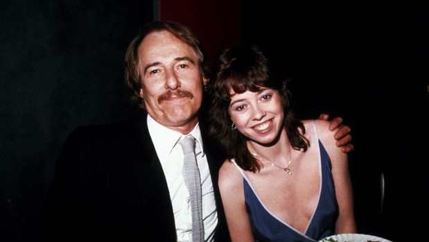 NEW YORK, NY - CIRCA 1981: Mackenzie Phillips and father John Phillips circa 1981 in New York City. (Photo by Robin Platzer/Images/Getty Images)