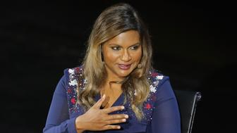 NEW YORK, NEW YORK - APRIL 07:  Actress Mindy Kaling speaks onstage at Mindy Kaling: Why Not Me? during Tina Brown's 7th Annual Women In The World Summit at David H. Koch Theater at Lincoln Center on April 7, 2016 in New York City.  (Photo by Jemal Countess/Getty Images)