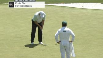 Ernie Els 7-putts from 6 feet to start the Masters with a sextuple bogey