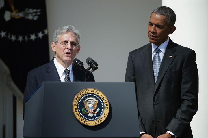 Judge Merrick B. Garland speaks after being nominated to the Supreme Court by President Barack Obama.