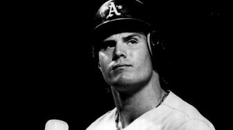 USA - CIRCA 1980s: Jose Canseco of the Oakland Athletics looks on circa 1980s. (Photo by Sporting News via Getty Images)
