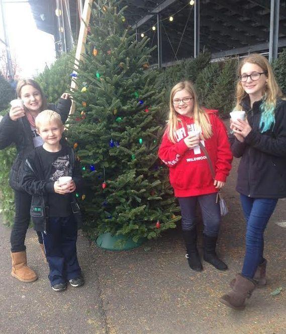 The kids at Christmas.