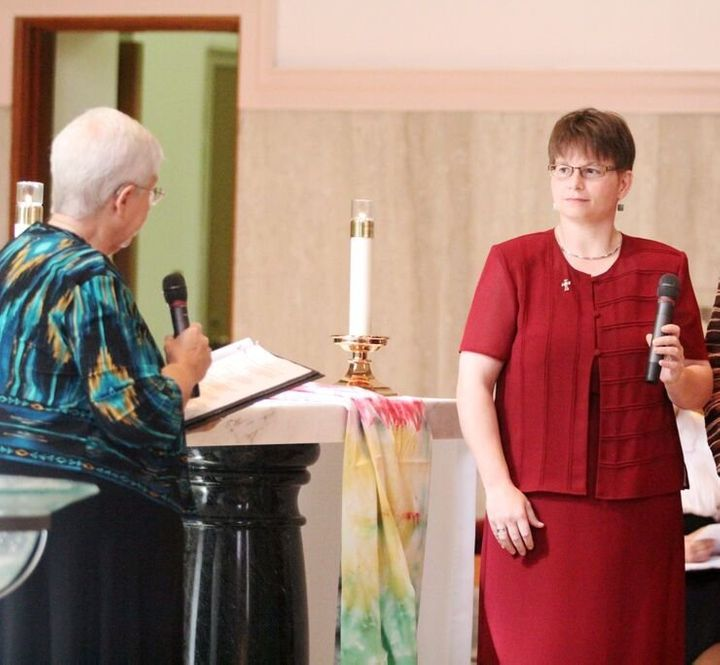 Cathy Manderfield takes her final vows.