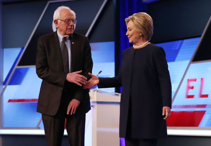 The next primary contest between Bernie Sanders and Hillary Clinton will be April 19 for New York's delegates.