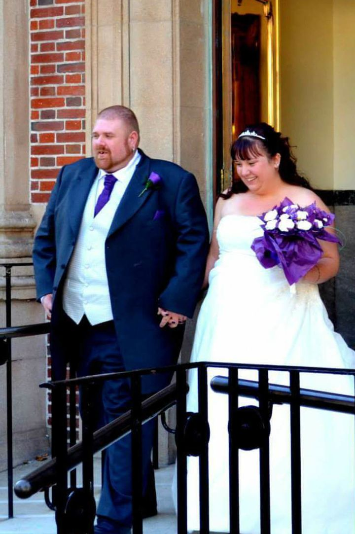 Dave and Gemma on their wedding day.