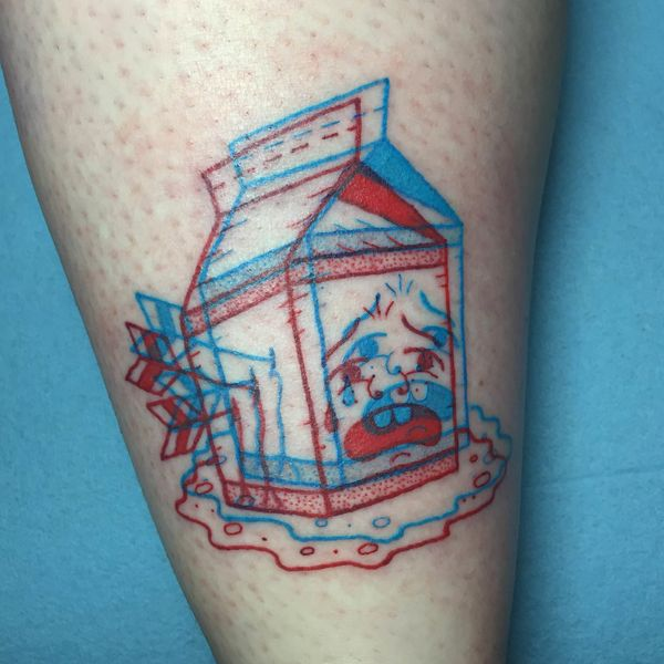 Drawing Red Lines With Green Ink : This artist s d tattoos will practically jump off your