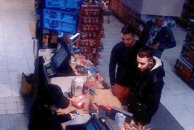 This video image taken from a CCTV camera at a petrol station in Ressons, North of Paris, on November...