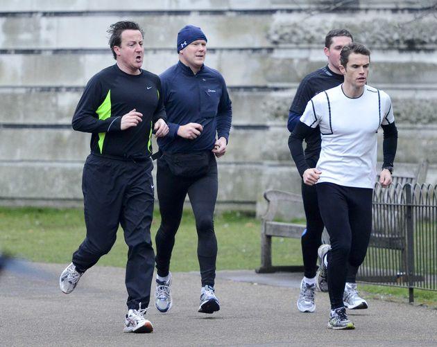 David Cameron with trainer to the stars, Matt