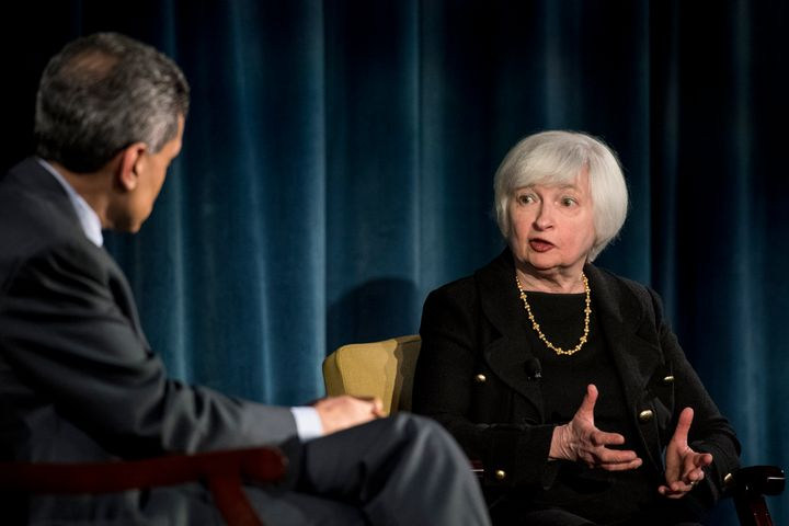 CNN's Fareed Zakaria, who moderated the panel, pressed Yellen on whether the Fed does enough for workers.