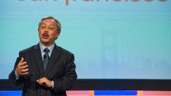 Ed Lee, mayor of San Francisco, speaks during a keynote address at the Ad:Tech Conference in San Francisco, California, U.S., on Tuesday, April 3, 2012. The two-day conference, designed to bring together media, marketing and technology professionals, runs through April 4. Photographer: David Paul Morris/Bloomberg via Getty Images