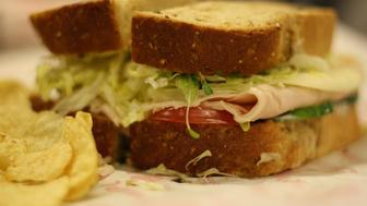 HANDOUT IMAGE: Washington, DC -- Dec. 15, 2011. The Beach Club sandwich on seven grain bread from Jimmy John's in Washington D.C., one of the popular sandwich chain's more exciting menu items. (Photo by Alex Baldinger/The Washington Post via Getty Images)