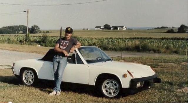 Dave and his beloved 1973 Porsche.