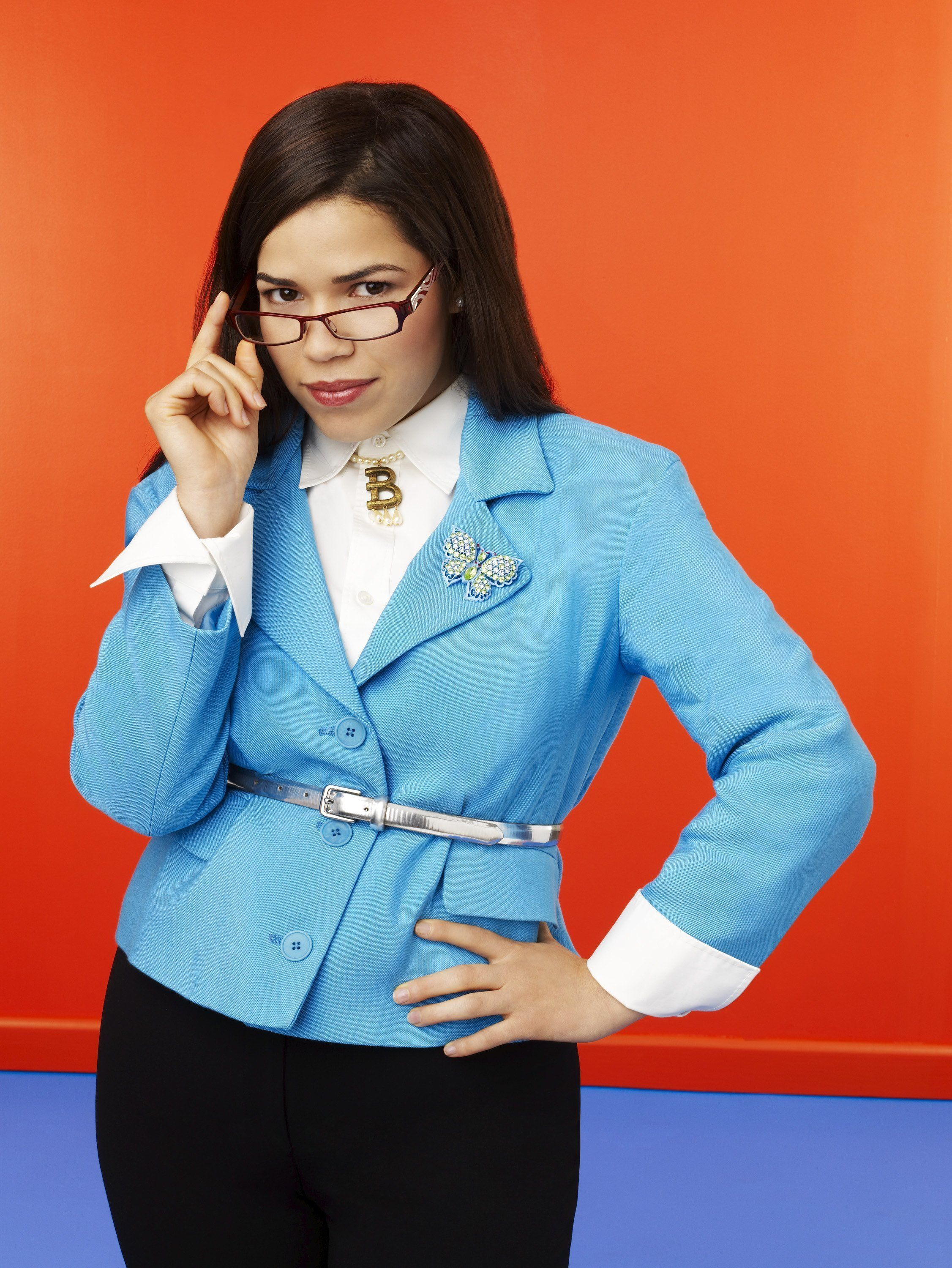 UGLY BETTY - ABC's 'Ugly Betty' stars America Ferrera as Betty Suarez. (Photo by Andrew Eccles/ABC via Getty Images)