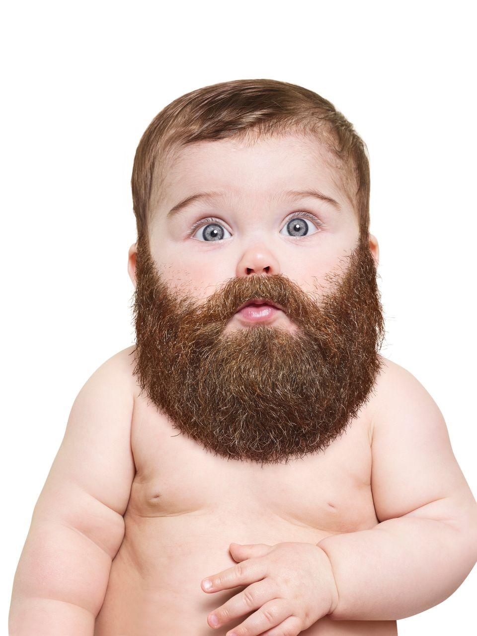 23af62c12 Stock Photos That Make Us Wish More Babies Had Beards   HuffPost Life