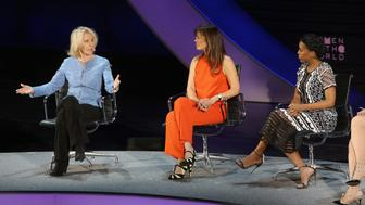 NEW YORK, NEW YORK - APRIL 08:  Writer Sally Quinn, screenwriter Susannah Grant and actress Kerry Washington speak onstage at The Lasting Impact of Anita Hill during Tina Brown's 7th Annual Women in the World Summit at David H. Koch Theater at Lincoln Center on April 8, 2016 in New York City.  (Photo by Jemal Countess/Getty Images)