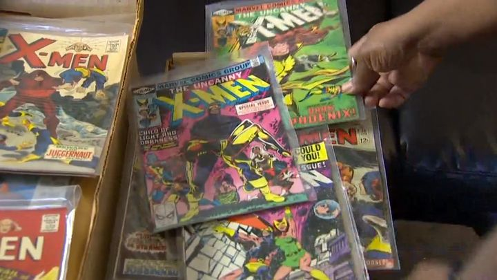 Sander's colossal comic collection.