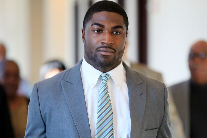 Cory Batey, pictured, was on Friday found guilty of raping an unconscious female student.