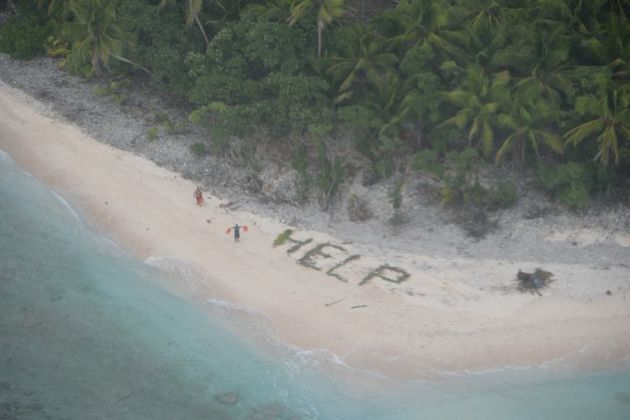 Castaways Rescued After Spelling Out 'HELP' In Palm