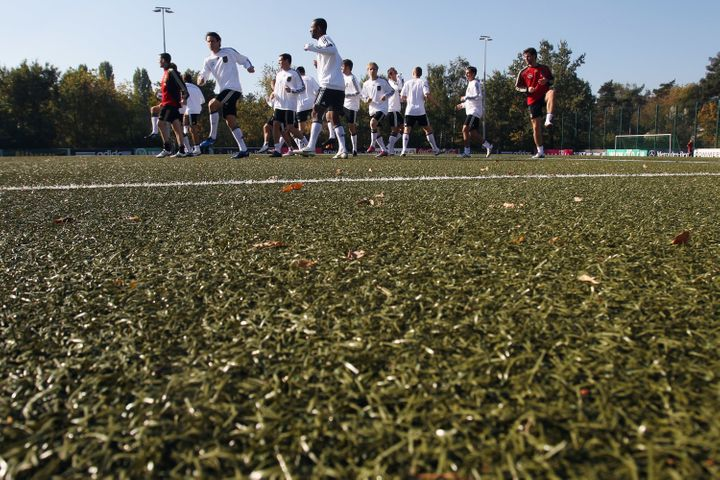 Artificial fields each contain anywhere between 20,000 to 30,000 ground-up tires.