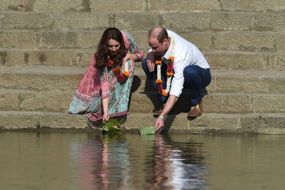 Prince William and Catherine visit the historic Banganga water tank in