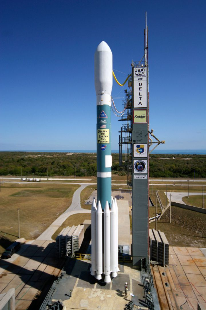 The Kepler telescope launched into space in 2009 from Florida's Cape Canaveral Air Force Station. It's designed to search the