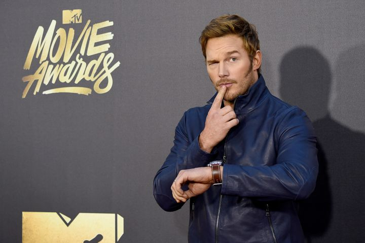 Chris Pratt in deep thought at the 2016 MTV Movie Awards.