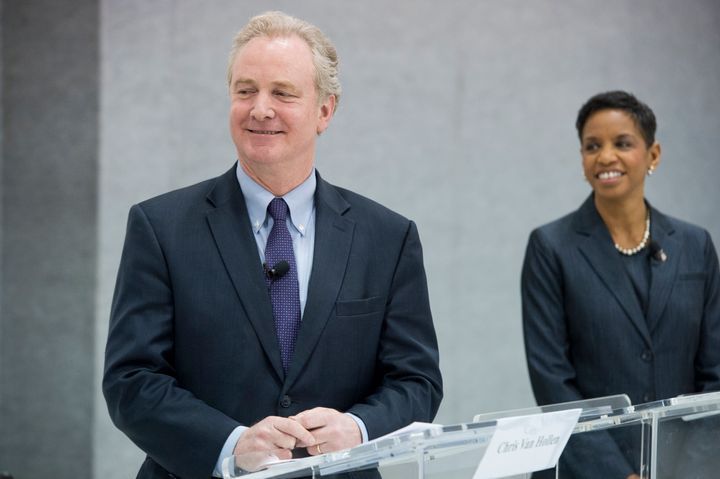 Maryland Democratic Senate candidate and Rep. Donna Edwards (right) has highlighted heropponent Rep. Chris Van Hollen's