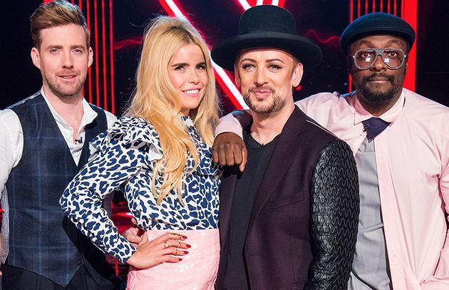 'The Voice' judges, (l-r) Ricky Wilson, Paloma Faith, Boy George and